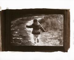 Skipping Girl (-=DMC=-) Tags: bw retro timeless digitalnegative altprocess saltprint wetprint handcoated handmadeemultion
