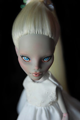 Ghoulia... (Fausto & Gretchen  (busy with my Ph.D)) Tags: monster high doll ooak custom mattel repaint reroot yelps ghoulia