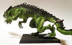 Carnosaur Left (Camper_Bob) Tags: miniature painted fantasy warhammer lizardmen