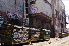 cluster*uck (cyan79) Tags: california ca cali trash typography graffiti la losangeles garbage alley nikon tag bin type graff dslr throwup d40 califas