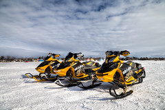 Ski-Doo MXZ X-RS E-TEC 800R:: HDR (Chaos2k) Tags: lake snow ice clouds photoshop racing hdr snowmobile skidoo manfrotto nipissing photomatix canon24105l 3exp 488rc2 055xprob canon5dmarkii brianboudreau northbayphotoclub