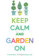 Keep Calm and Garden On - t graphic (birdarts) Tags: flowers plants illustration typography gardeners cool funny topiary lettering whitetshirt cooltshirts topiaries printedtshirt keepcalmandcarryon tshirtgraphics andibird keepcalmandgarden gardenteeshirt gardeningteeshirt