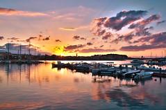 Marina at sunset (Theophilos) Tags: sunset sea sky reflection clouds marina boats greece rethymno ελλάδα σύννεφα θάλασσα δυση αντανάκλαση ρέθυμνο ουρανόσ βάρκεσ μαρίνα