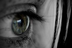 DIL_2737B4 (Switchology) Tags: blue iris blackandwhite macro eye girl monochrome closeup t eyes lash greyscale selectivecolour 105mmf28 macroscopic nikon105mmf28gedifafsvr