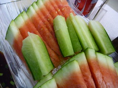 Watermelon and Green Radishes (browniepage) Tags: china fruit watermelon radish