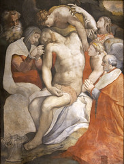 Resting of the Crucified One (Lawrence OP) Tags: rome christ cardinal jesus angels virginmary crucifixion pieta deposition santamariadellanima salviati