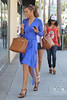 Rochelle Wiseman and Vanessa White of The Saturdays shopping in Beverly Hills Los Angeles, California