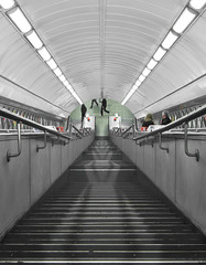 stairs of a commuting temple. (Valerio Loi) Tags: above people woman man guy london girl up station lady train underground climb stair arch carriage time walk tube central rail down line step commute late commuting marble