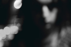 (mashmashmash) Tags: street portrait face night self dark person lights grim bokeh fear