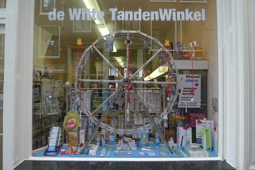 Vitrine de De Witte Tanden Winkel - Amsterdam, janvier 2012