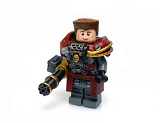 ANIKETOS ([N]atsty) Tags: red hammer wow skull gold amazing blood marine war gun lego arm fig space awesome best ama mounted figure warhammer minifig armory drybrush minigun brickarms aniketos
