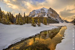 Sunrise at Lake Louise (James Neeley) Tags: canada sunrise landscape banff lakelouise hdr f12 5xp jamesneeley