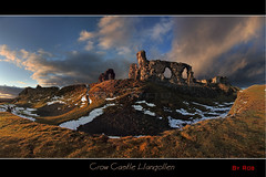 Crow castle (Robstorm Photography) Tags: old winter light sunset snow storm cold castle beauty wales photoshop moody fort cymru ruin scenic stormy panoramic welsh stronghold llangollen photostitch dinasbran crowcastle supershot canon5dmark2 rememberthatmomentlevel1 rememberthatmomentlevel2 robstormphotography