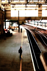 stay behind the yellow line (jonny violence yeah?) Tags: blur station yellow fake railway panasonic carlisle dmc tilty gf1 playform