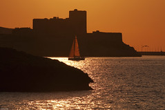 Castle Sunset 2 (marcovdz) Tags: sunset sea mer france castle sailboat boat marseille sailing if provence bateau voilier coucherdesoleil chteaudif
