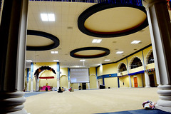diwaan hall (manjinder_kaur) Tags: city blue sky india beautiful yellow architecture america religious san hose sikh sahib gurdwara punjabi waheguru singh simran kaur smagam gurughar mkaurphotography