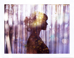 Nightshade (amamak photography!) Tags: portrait photoshop polaroid doubleexposure fujifp100c mixproject amamak