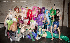 Welcome to San Francisco (Tristan C) Tags: sanfrancisco drag costume rainbow wigs mermaid shera rainbowbrite 80scartoons rainbowcostume peopleofsanfrancisco