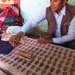 "Hand-printing Fabric <a style=""margin-left:10px; font-size:0.8em;"" href=""http://www.flickr.com/photos/14315427@N00/6962075435/"" target=""_blank"">@flickr</a>"