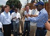 March 2012- UNDP's Jordan Ryan with Director General of Burundian Police Force. Rumonge, Burundi
