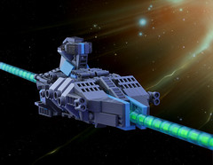 Pearson Class Troop Ship - Ride that C-Beam baby. (Si-MOCs) Tags: ship lego space micro troopship foitsop microspacetopia glitteringcbeams