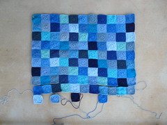 The Little Boy Blue blanket so far (crochetbug13) Tags: blue crochet acrylicyarn nanasquare royalsisters