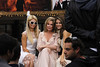 Paris Hilton and Kathy Hilton with Maria Menounos at The Grove to launch Kathy's new fashion line 'The Kathy Hilton collection' on 'Extra' Los Angeles, California