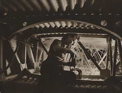 [Woman working on wing section, Boeing Aircraft Company] (SMU Central University Libraries) Tags: woman women airplanes working workforce