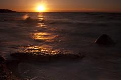 Splish Splash_DSC7110_E (antelope reflection) Tags: sunset reflection water utah waves antelopeisland utahstatepark nikond90