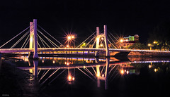 Le Hong Phong Bridge on the Ca Ty River, Phan Thiet, Vietnam (-clicking-) Tags: lighting longexposure bridge light reflection night river landscape exposure vietnam phanthit top20bridges vietnameselandscape
