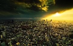 Till the end of the world (inhiu) Tags: world city sunset sky urban japan clouds japanese tokyo nikon view hills end   tones breathtaking      d7000 inhiu