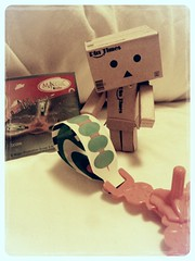 Disappointed Carbo (ghostsecurity28) Tags: fun toy toys amusement robot candy creative books kinder surprise sweets imagine imagination peeps danbo revoltech danboard