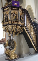Wow! (:Linda:) Tags: sculpture man men church germany bavaria town franconia atlas pulpit caryatid schweinfurt kanzel rokoko unterfranken atlant
