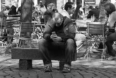 don't forget the real life ! - streets of `Hamburg (Altona) (tusuwe.groeber) Tags: street city boy urban blackandwhite bw white black germany deutschland child emotion image hamburg streetlife kind hh dreamer hamburgo schwarz hambourg junge daydreamer hansestadt traum weis strase trumer tagtrumer freieundhansestadthamburg strassenleben freeandhanseaticcityofhamburg grosstadt  nex7