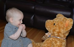 Missing her already (shireye) Tags: bear amber elise kisses granddaughter hugs