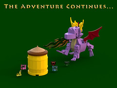 Spyro the Dragon - The Adventure Continues... (bradders1999) Tags: game classic station digital vintage project fire one 1 video support play dragon lego dragonfly designer egg barrel games retro gaming fairy fantasy ps1 theif videogame hunter portal vote ideas playstation insomniac sparx spyro moc ldd purist rhynoc