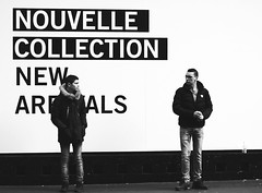 new kids on the block (gregjack!) Tags: street people blackandwhite bw paris france men fashion shop french candid streetphotography newcollection