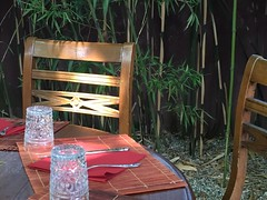 outdoor table (Hayashina) Tags: italy milan table restaurant chair outdoor