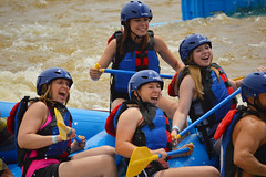 Happy White water rafters (radargeek) Tags: whitewater district rafting okc boathouse