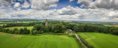 Hoober Stand Panorama (HDR) (Darren Flinders) Tags: summer sky panorama clouds countryside pano yorkshire panoramic aerial fields aerialphotography cloudporn rotherham southyorkshire drone dji skyporn djiphantom3