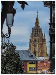 Catedral de San Salvador vista desde la Calle Perez de la Sala de Oviedo, Asturias, Espaa. (RAYPORRES) Tags: espaa asturias mayo oviedo 2016 principadodeasturias catedraldesansalvador calleperezdelasala
