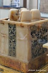 Canopic Chest of Tutankhamun (konde) Tags: art chest tomb goddess 18thdynasty hieroglyphs valleyofthekings ancientegypt tutankhamun alabaster tutankhamon cairomuseum newkingdom canopic kv62