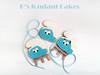 Smurfs Cookies (K's fondant Cakes) Tags: blue white cookies smurf fondant μπλε μπισκότα λευκό στρουμφάκια ζαχαρόπαστα σιελ