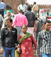 Jama Masjid visitors (bokage) Tags: india delhi jamamasjid olddelhi bokage indien1