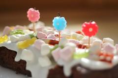 Birthday cake 220312 (Izzydizzybee) Tags: andy cake candles happybirthday picnik padmarch2012