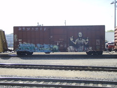 rolling... ? | les crabs (feck_aRt_post) Tags: graffiti destn freight sry lescrabs keno benching sry9237