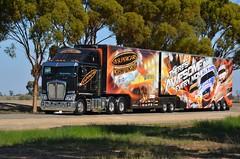 V8 Supercars (quarterdeck888) Tags: nikon flickr transport frosty trucks kenworth haulage quarterdeck newellhighway semitrailers k200 bdouble highwaytrucks d5100 worldtruck jerilderietrucks payslip8weeks