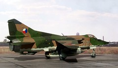 """1:72 MiG-27, """"5734"""", Czechoslovakian Air Force; unknown squadron, mid 80ies (Academy kit) (dizzyfugu) Tags: brown scale model force tank conversion czech air attack ground drop plastic flogger kit rockets bombs czechoslovakia 172 mikoyan czechoslovak mig27 unguided dizzyfugu gurewitsch gsh30"""