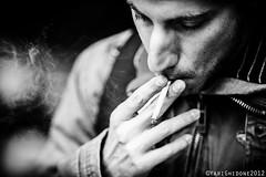Fumo ( YariGhidone ) Tags: street city portrait people bw white black torino nikon photographer bn persone 28 mm 300 turin bianco nero yari vrii d700 nikond700 ghidone yarighidone