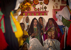 Tuareg girls in traditional dress, Ghadames,  Libya (Eric Lafforgue) Tags: africa house color sahara horizontal kid child northafrica decoration unescoworldheritagesite indoors berber libya jewel ghadames libia libye smallgroupofpeople libyen colorpicture lbia italiancolony libi libiya tripolitania  ribia liviya ghadamis gadhames ghudamis libija colourpicture       lbija  lby  libja lbya liiba livi  a0013076 ghadamsi